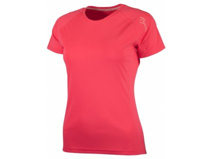 Dámské sportovní funkční triko Rogelli BASIC z hladkého materiálu, reflexní růžové