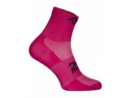 Dámské antibakteriální funkční ponožky Q-SKIN s bezešvou patou, růžové