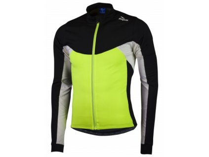 Hřejivý dětský cyklistický dres Rogelli RECCO 2.0 s dlouhým rukávem, reflexní žlutý