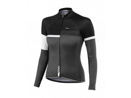 Cyklistický dámský Dres dlouhý rukáv PASSION X9 černý