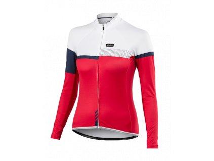 Cyklistický dámský Dres dlouhý rukáv PASSION X9 červený