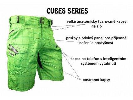 Cyklokraťasy HAVEN CUBES II green