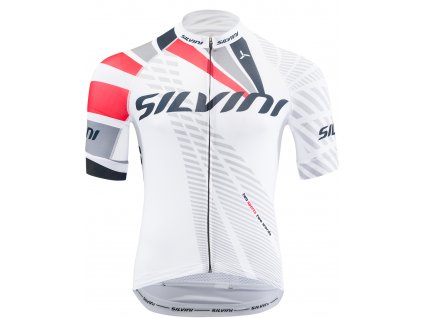 Pánský cyklistický dres Silvini Team MD1400 bílý
