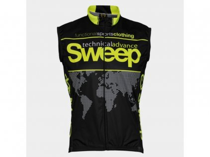 CYKLISTICKÁ VESTA SWEEP NOWIND V004 black/yellow fluo