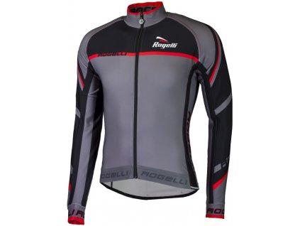 cyklisticky dres rogelli andrano 2 0 s dlouhym rukavem sedo cerveny original
