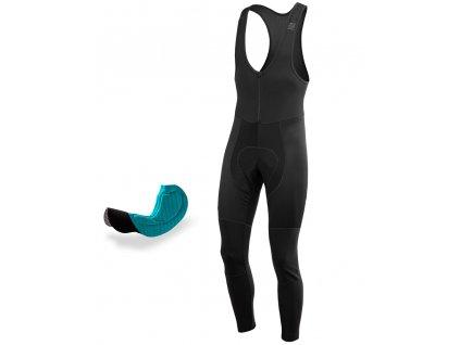 Cyklistické Kalhoty se šlemi + sedlo PASSION X9 černé