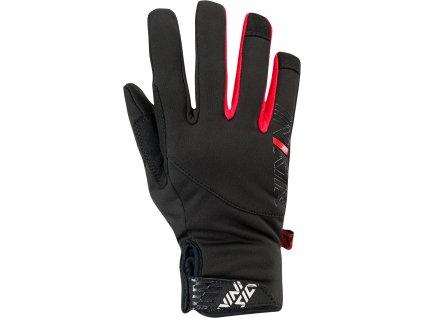 Silvini zimní středně teplé rukavice Ortles CA1541 black/red