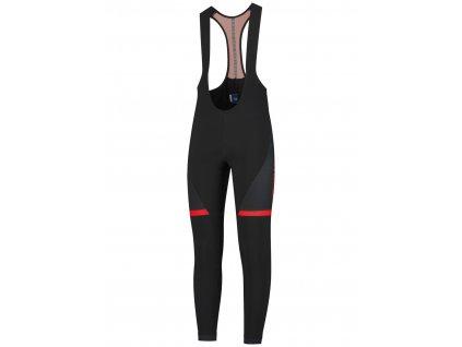 Cyklistické kalhoty Rogelli FUSE s gelovou cyklovýstelkou, černo-červené