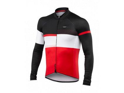 Cyklistický Dres dlouhý rukáv PASSION X9 červený