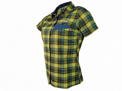 Košile HAVEN AGNESS Slimfit women blue/yellow