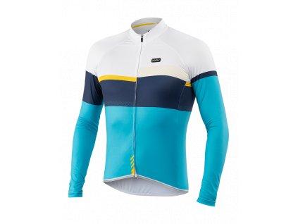 Cyklistický Dres dlouhý rukáv PASSION X9 modrý/žlutý
