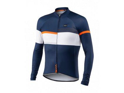 Cyklistický Dres dlouhý rukáv PASSION X9 modrý