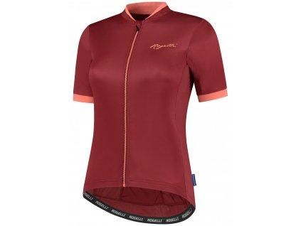 Dámské cyklistické oblečení Rogelli ESSENTIAL, červeno-korálové
