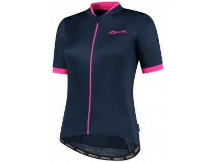 Dámské cyklistické oblečení Rogelli ESSENTIAL, modro-růžové