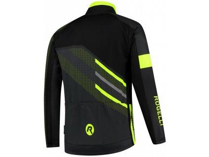 Pánské zimní cyklo oblečení Rogelli TEAM 2.0 středně hřejivé, reflexní žluté