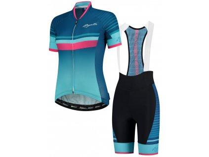 Dámské cyklooblečení Rogelli IMPRESS, modro-růžové