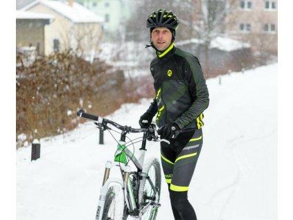 Pánské zimní cyklo oblečení Rogelli TEAM 2.0 středně hřejivé, černé