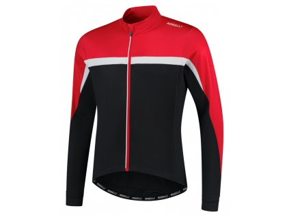COURSE, cyklistický dres dl. rukáv, černá-červená-bílá