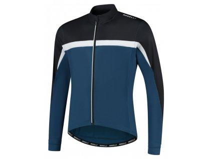 COURSE, cyklistický dres dl. rukáv, černá-modrá-bílá