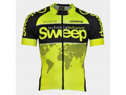 CYKLISTICKÝ DRES SWEEP RACE D013 yellow fluo
