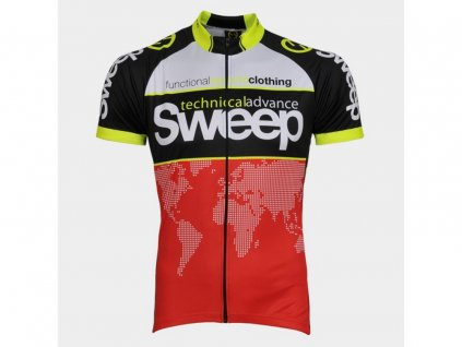 CYKLISTICKÝ DRES SWEEP CLASIC D010 red