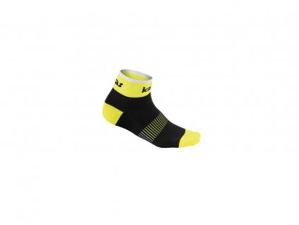 Kalas Cyklistické ponožky RACE X4 |neon