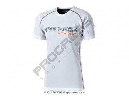 AMON pánské sportovní tričko bílá