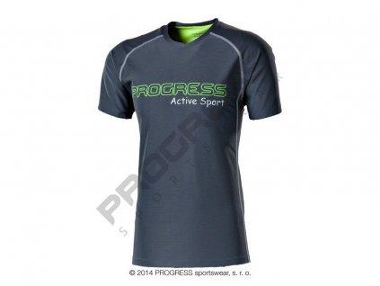 AMON pánské sportovní tričko šedá
