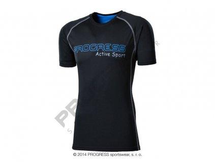AMON pánské sportovní tričko černá