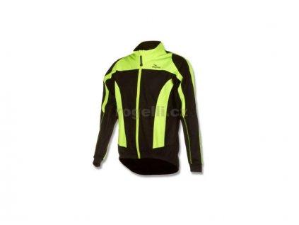 Membránová bunda Rogelli UZZANO, černo-reflexní žlutá