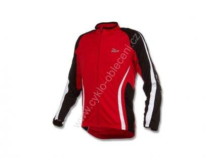 Cyklistický dres Rogelli MURA dl.r., červený vel.S