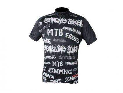 cyklistický dres Wear Gear Adrenaline black
