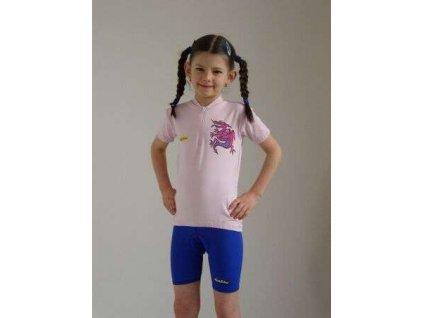 Dětské cyklistické kalhoty krátké, černé, vel. 130