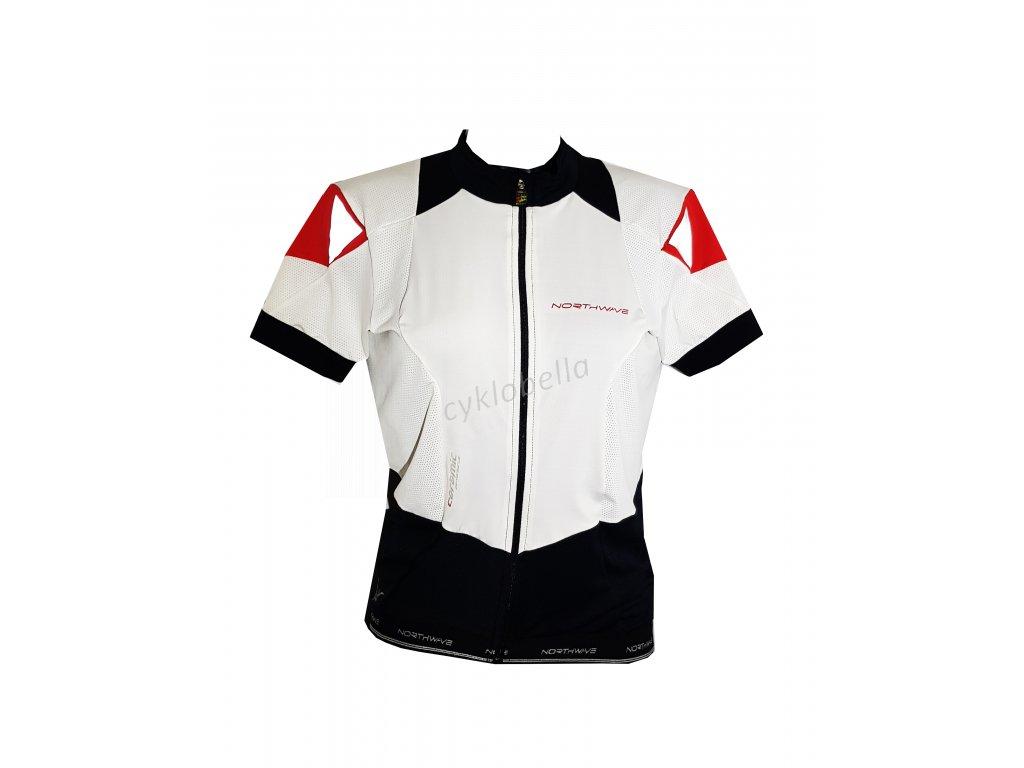 krátký dámský dress EVOLUTION Northwave white-black-red vel XL (EU 48)