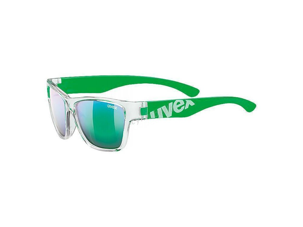 18 UVEX BRÝLE SPORTSTYLE 508 CLEAR GREEN/GREEN MIRROR (9716)