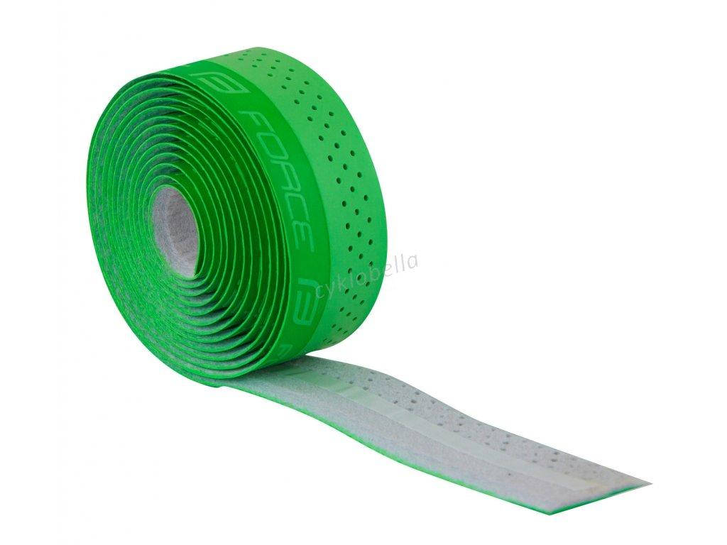 omotávka FORCE PU s vytláčeným logem, zelená