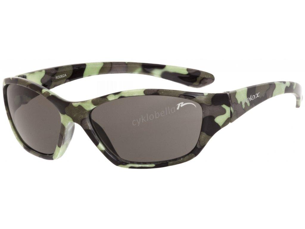 Dětské sluneční brýle RELAX Makin maskéčové R3062A
