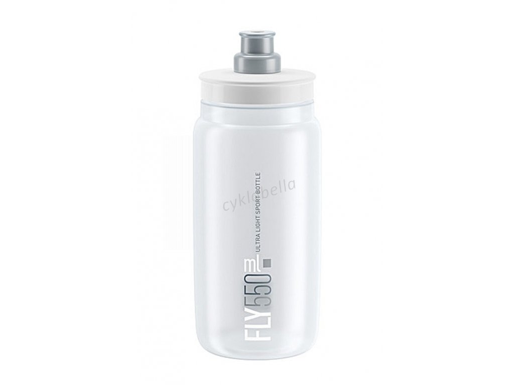 Láhev ELITE Fly 0,55l - čirá, šedé logo