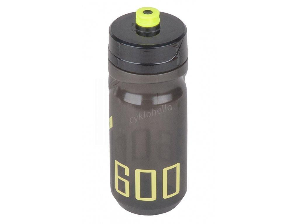 Láhev POLISPORT S600 0,6l - kouřová-černá-zelená fluor