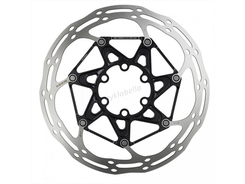 SRAM ROTOR CNTRLN 2P 140MM BLACK TI ROUNDED