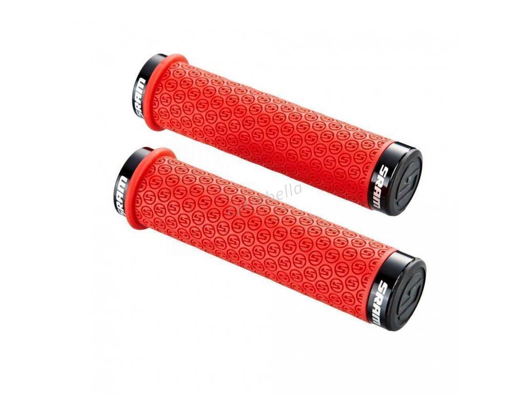 SRAM LOCKING GRIPS DH SRAM SILICONE RED