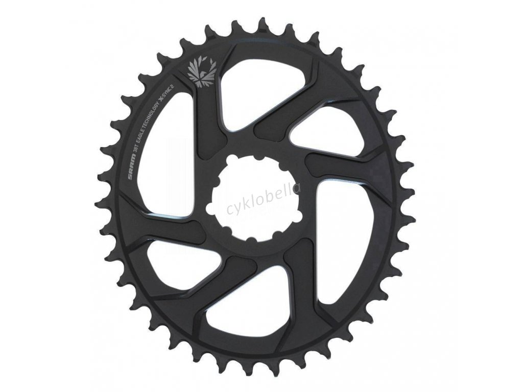 SRAM CR X-SYNC EAGLE OVAL 34T DM 6 OFF BLK