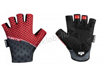 rukavice FORCE POINTS bez zapínání,červeno-črn XL