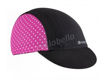 čepička s kšiltem F POINTS letní,černo-růžová S-M