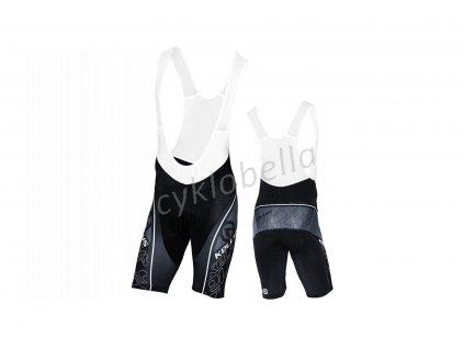 Cyklokalhoty KELLYS PRO Sport krátké s vložkou black - XS