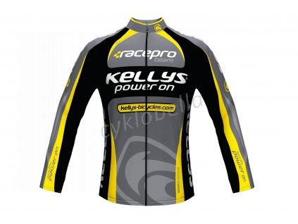 Dres KELLYS PRO Team dlouhý rukáv yellow - XS
