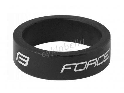 """podložka FORCE 1 1/8"""" AHEAD 10 mm Al, černá"""