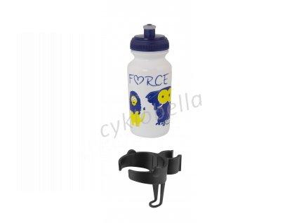 láhev dětská FORCE ZOO s držákem 0,3 l, bílá 25091