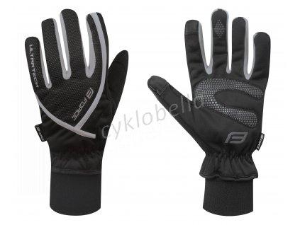 rukavice zimní FORCE ULTRA TECH, černé S