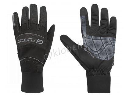 rukavice FORCE černé